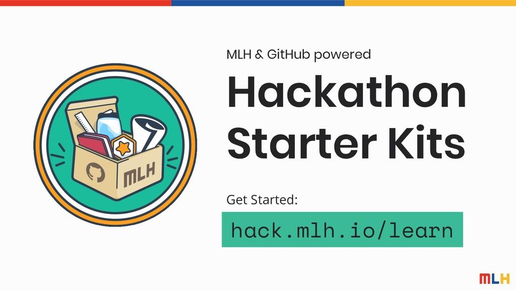 Hackathon Starter Kits MLH & GitHub powered hac...