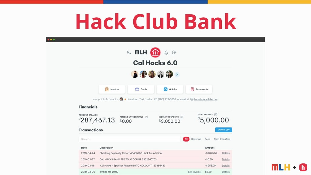 + Hack Club Bank