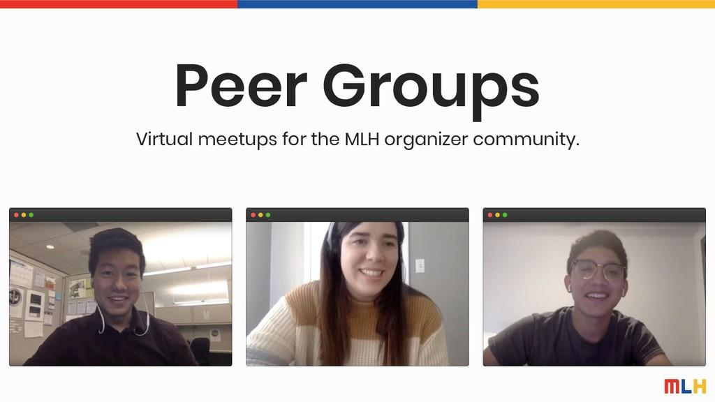 Peer Groups Virtual meetups for the MLH organiz...