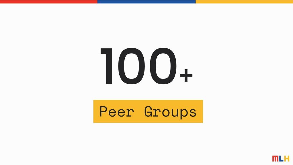 100+ Peer Groups