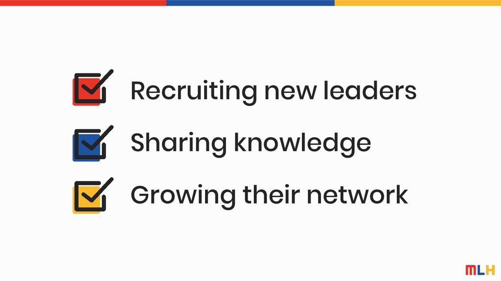 Sharing knowledge Growing their network Recruit...