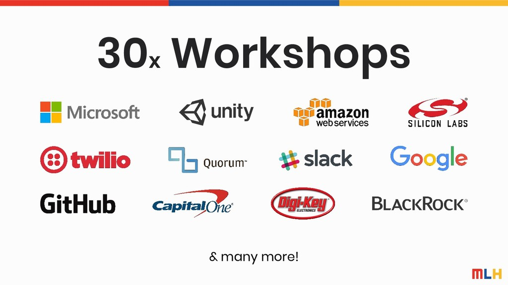 30x Workshops & many more!