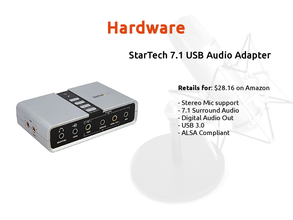 Hardware Retails for: $28.16 on Amazon - Stereo...