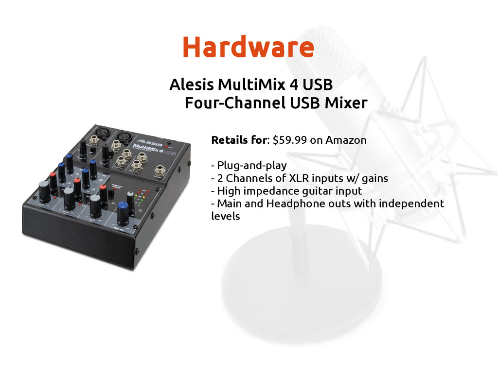 Hardware Alesis MultiMix 4 USB Four-Channel USB...