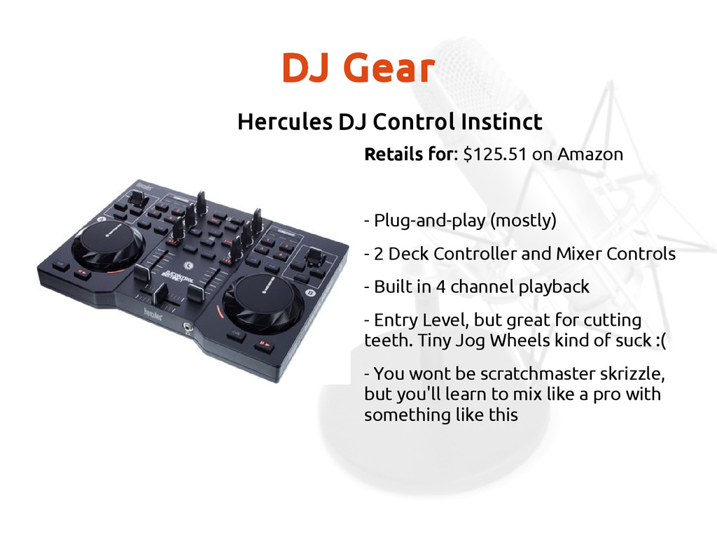 DJ Gear Retails for: $125.51 on Amazon - Plug-a...