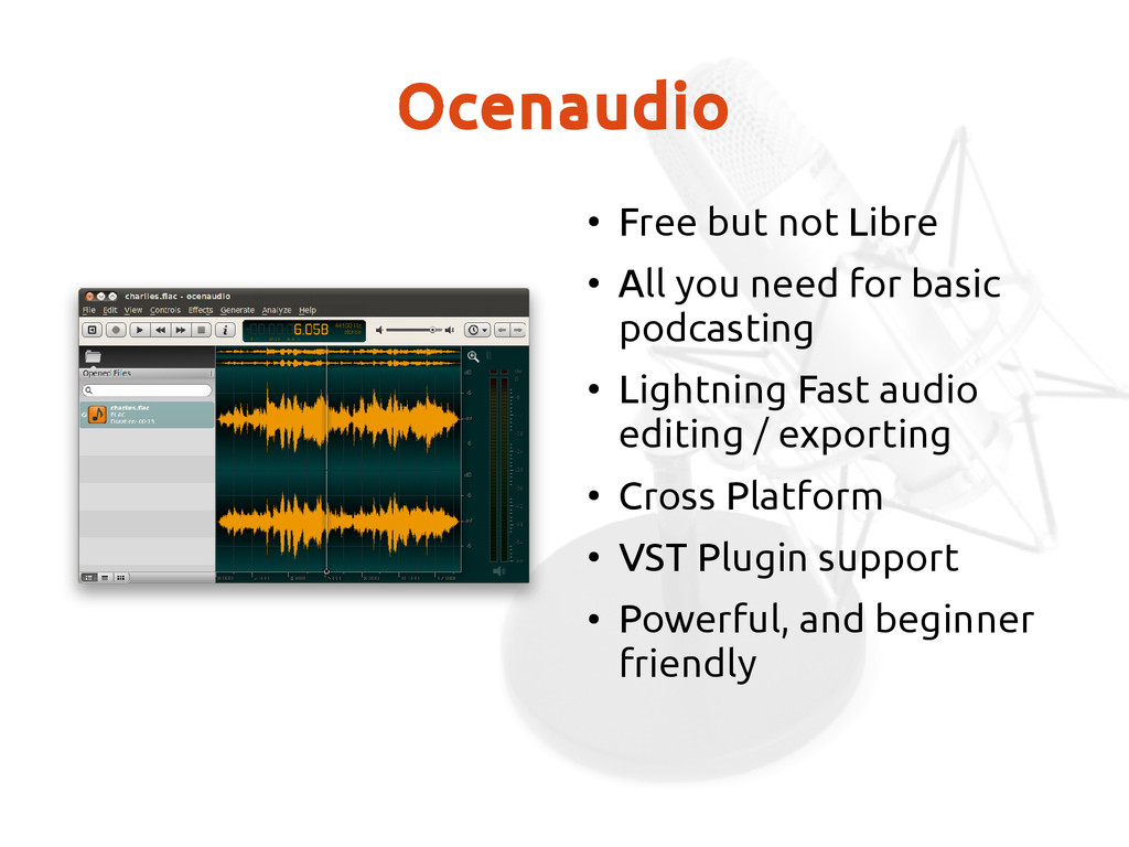 Ocenaudio ● Free but not Libre ● All you need f...