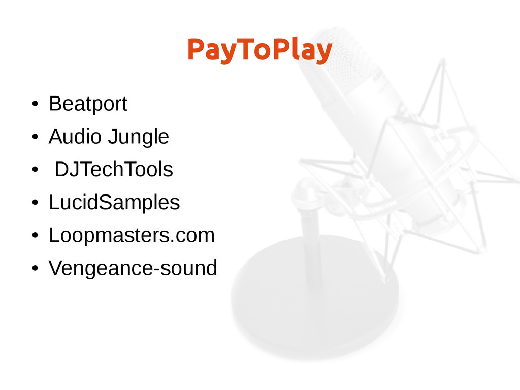 PayToPlay ● Beatport ● Audio Jungle ● DJTechToo...
