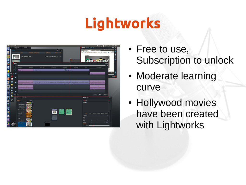 Lightworks ● Free to use, Subscription to unloc...