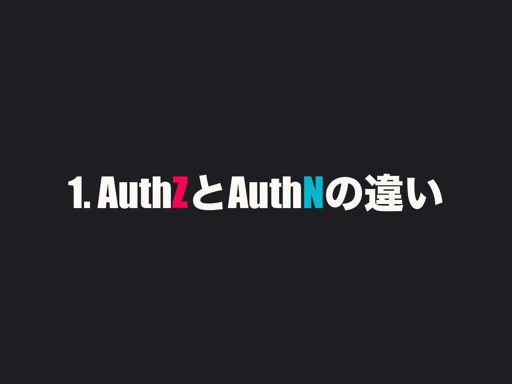 1. AuthZͱAuthNͷҧ͍