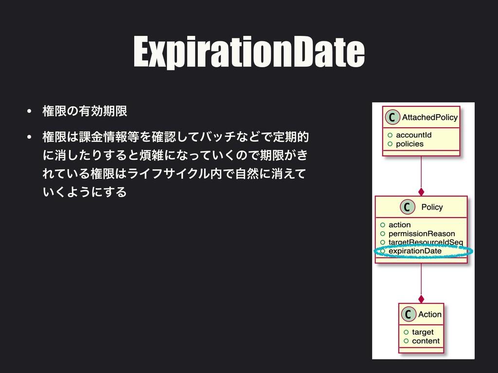ExpirationDate • ݖݶͷ༗ޮظݶ • ݖݶ՝ۚใΛ֬ͯ͠όονͳͲͰఆ...