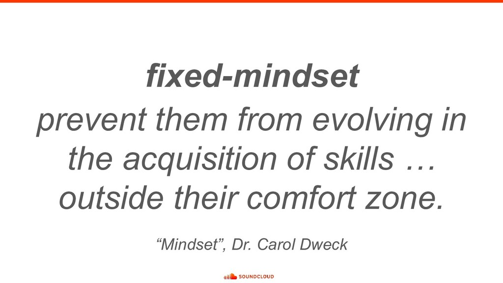 fixed-mindset prevent them from evolving in the...