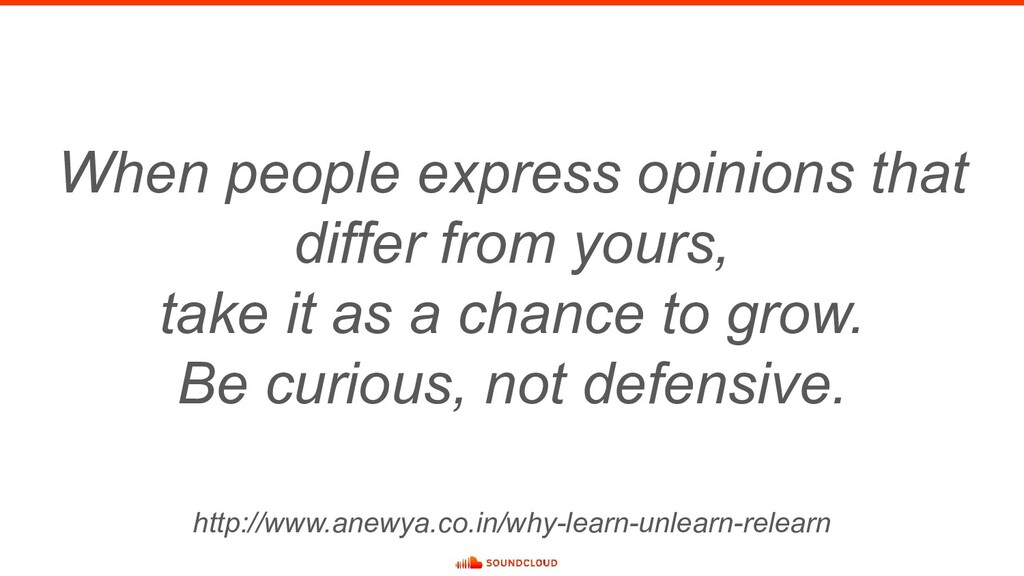 When people express opinions that differ from y...