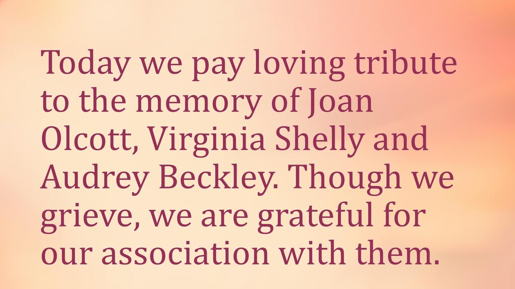 Today we pay loving tribute to the memory of Jo...