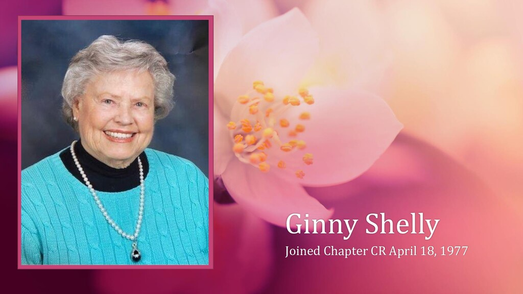 Ginny Shelly Joined Chapter CR April 18, 1977