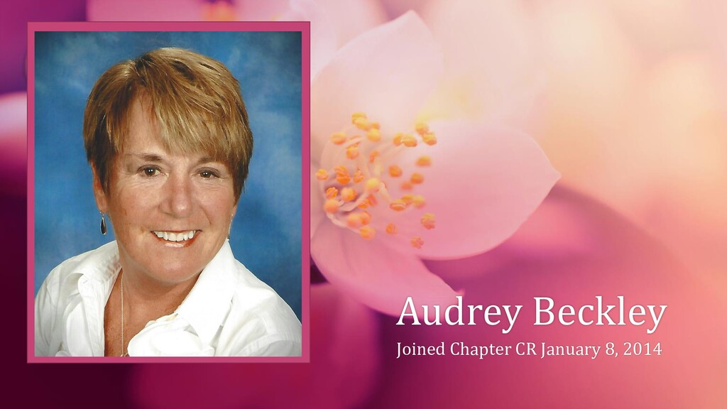 Audrey Beckley Joined Chapter CR January 8, 2014