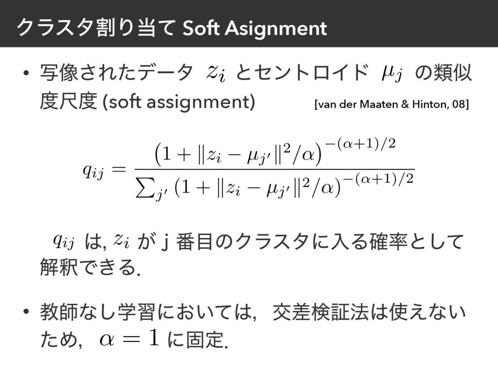ΫϥελׂΓͯ Soft Asignment • ࣸ૾͞Εͨσʔλ ͱηϯτϩΠυ ͷྨ ...