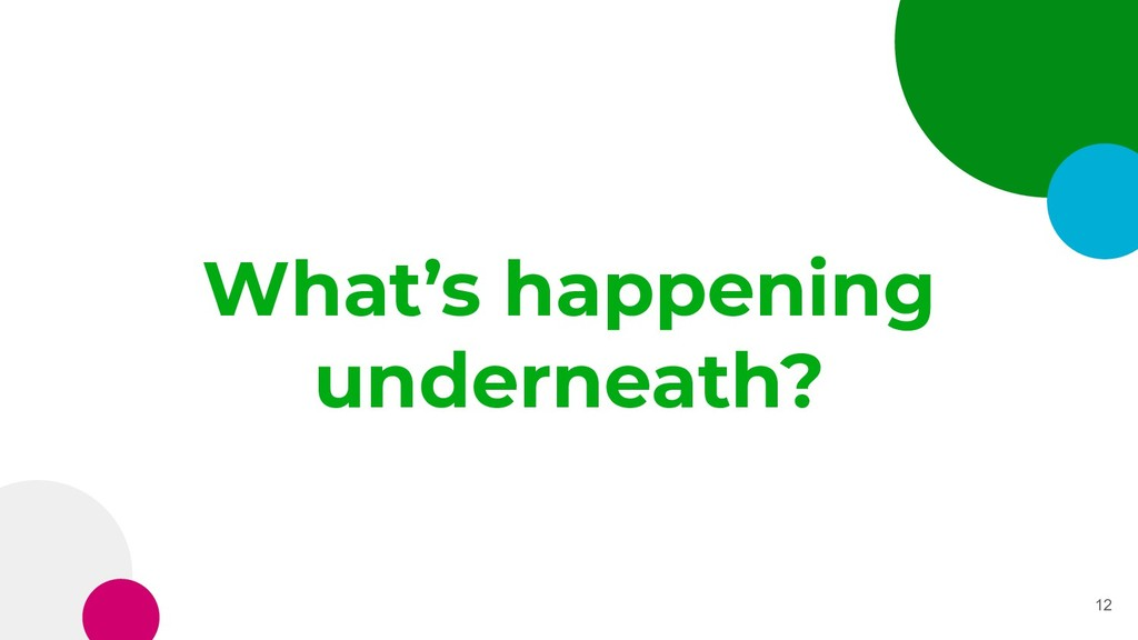 What's happening underneath? 12