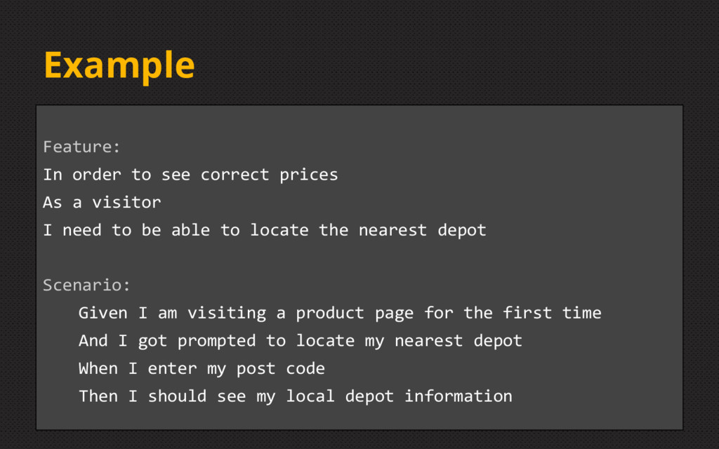 Example Feature: In order to see correct prices...