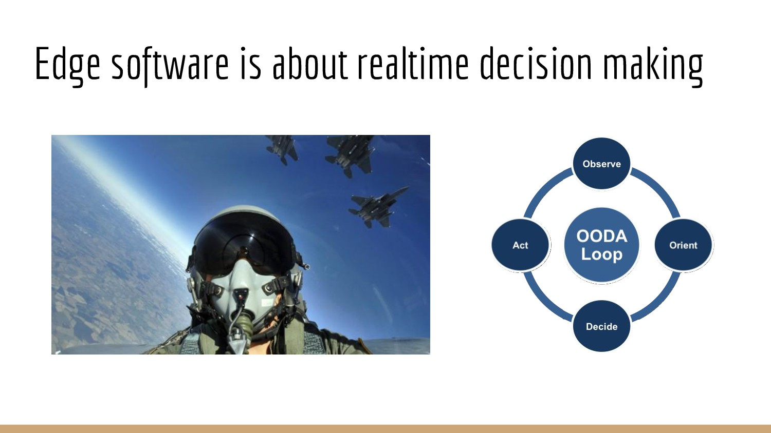 Edge software is about realtime decision making