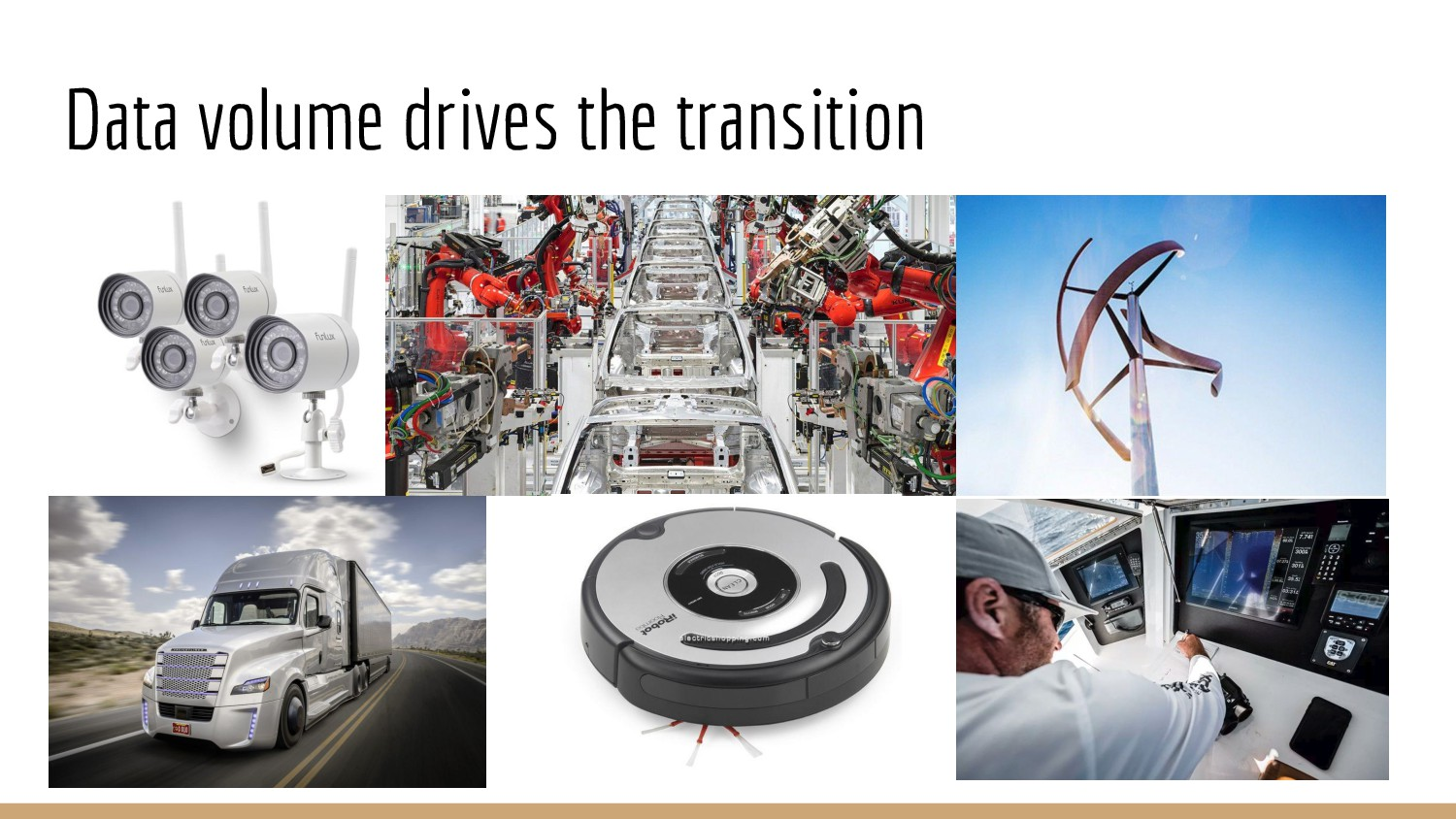 Data volume drives the transition