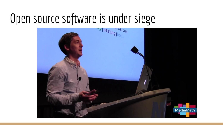 Open source software is under siege