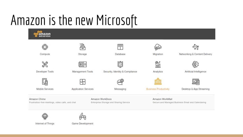 Amazon is the new Microsoft