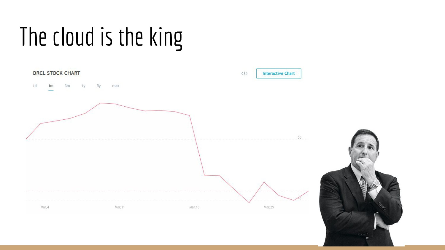 The cloud is the king
