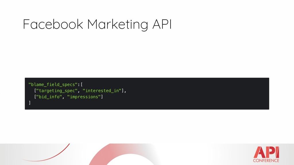 Facebook Marketing API