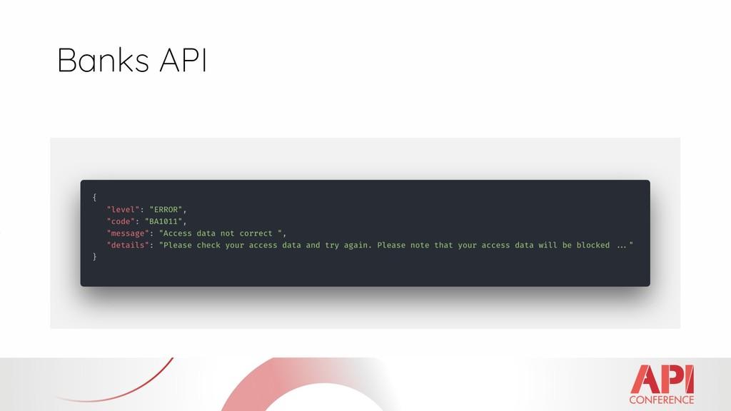 Banks API