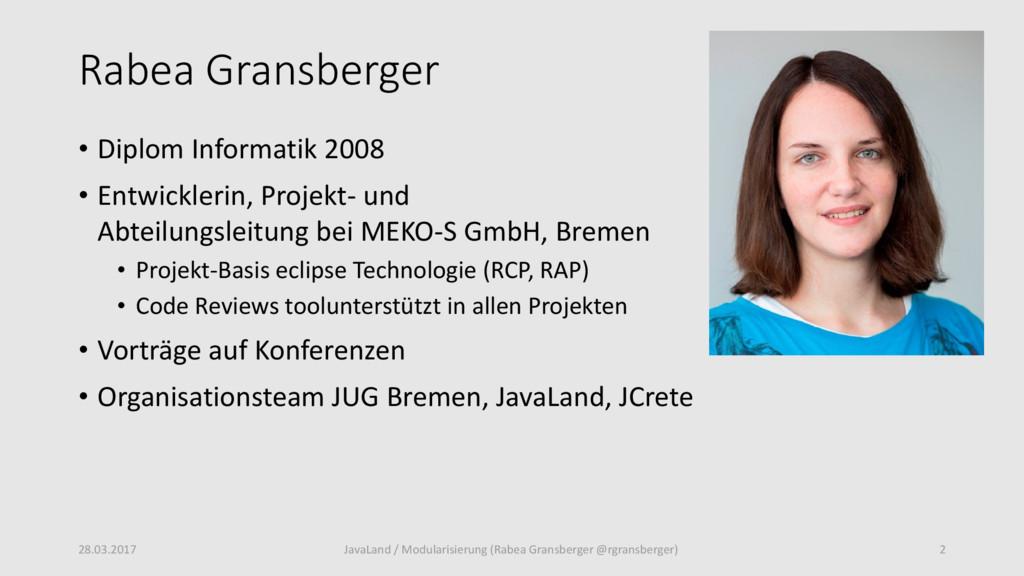 Rabea Gransberger • Diplom Informatik 2008 • En...