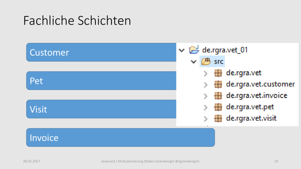 Fachliche Schichten 28.03.2017 19 JavaLand / Mo...