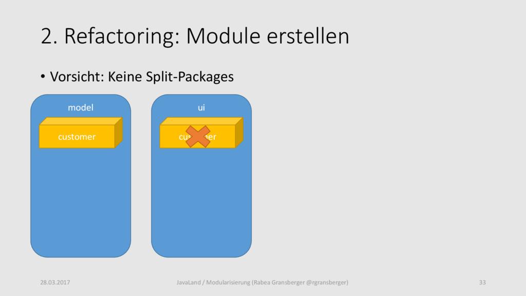 2. Refactoring: Module erstellen 28.03.2017 33 ...