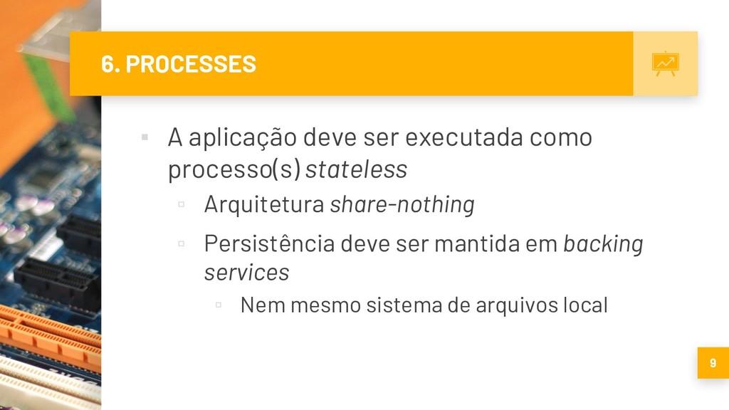 6. PROCESSES ▪ A aplicação deve ser executada c...