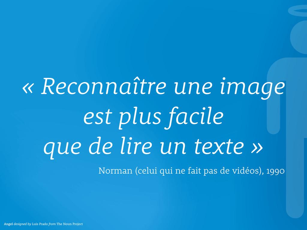 « Reconnaître une image est plus facile que de ...
