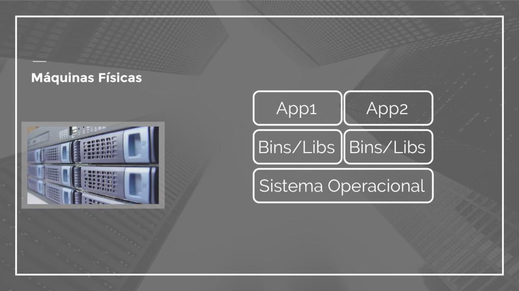 Máquinas Físicas Sistema Operacional Bins/Libs ...