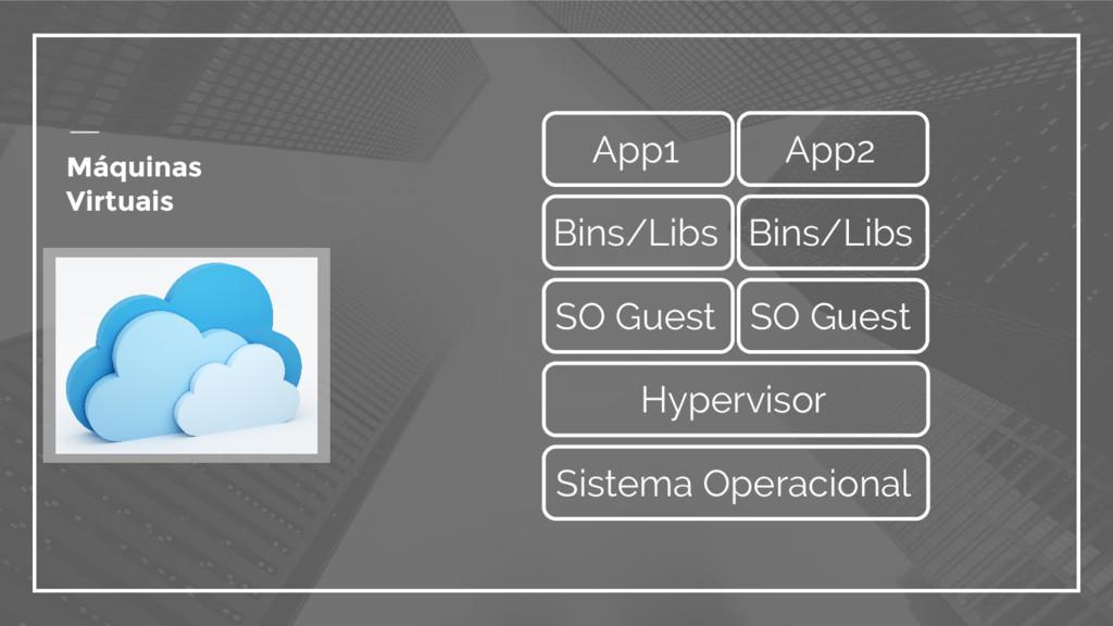Máquinas Virtuais Hypervisor SO Guest SO Guest ...