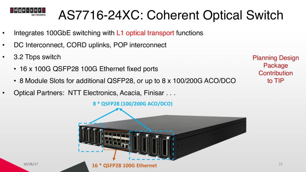 AS7716-24XC: Coherent Optical Switch • Integrat...