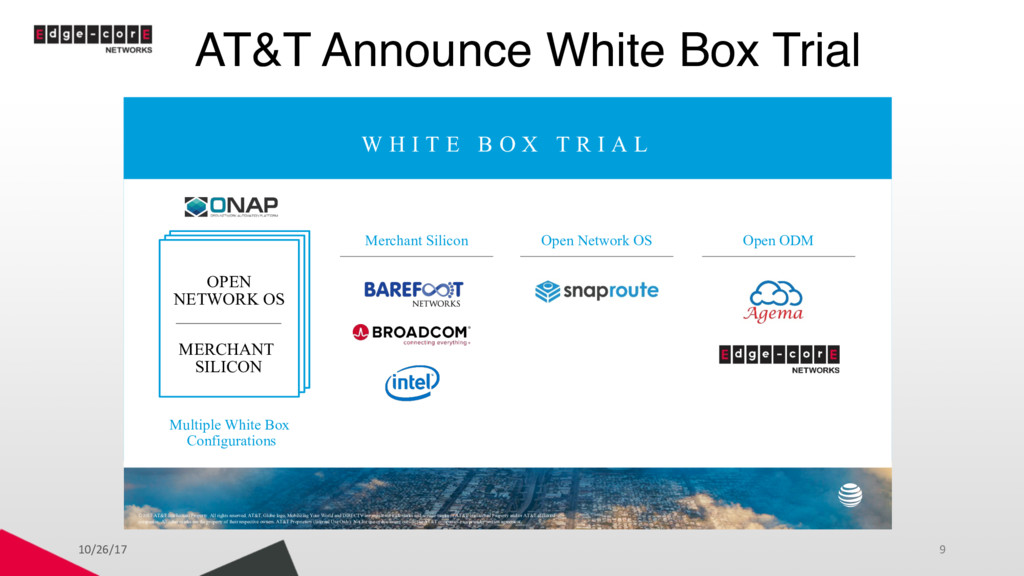 AT&T Announce White Box Trial 10/26/17 9 W H I ...