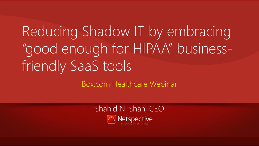 """Reducing Shadow IT by embracing """"good enough fo..."""