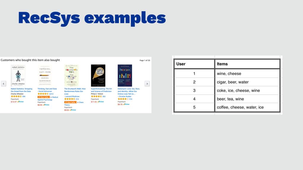 RecSys examples