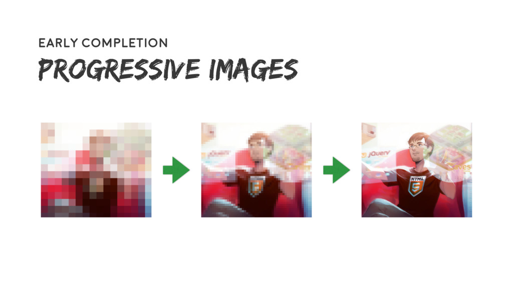 58 Early completion Progressive images