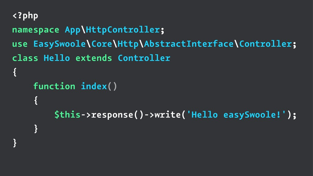 <?php namespace App\HttpController; use EasySwo...
