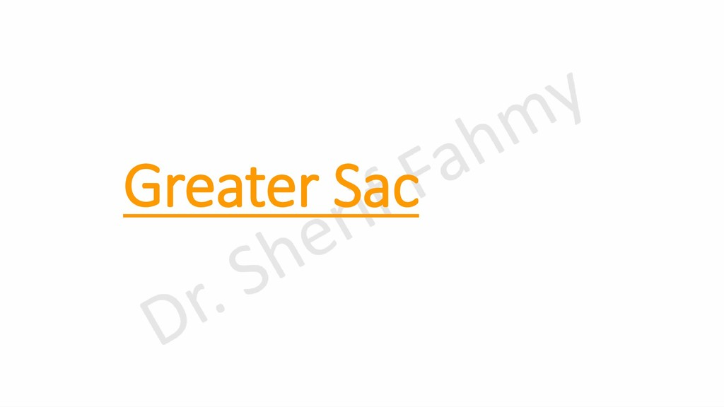 Greater Sac