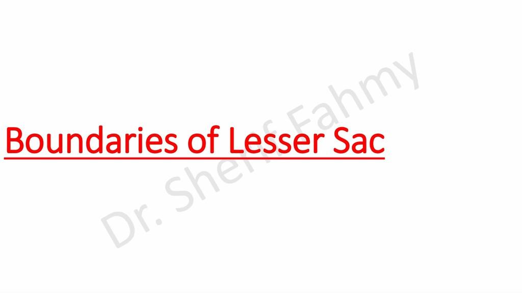Boundaries of Lesser Sac
