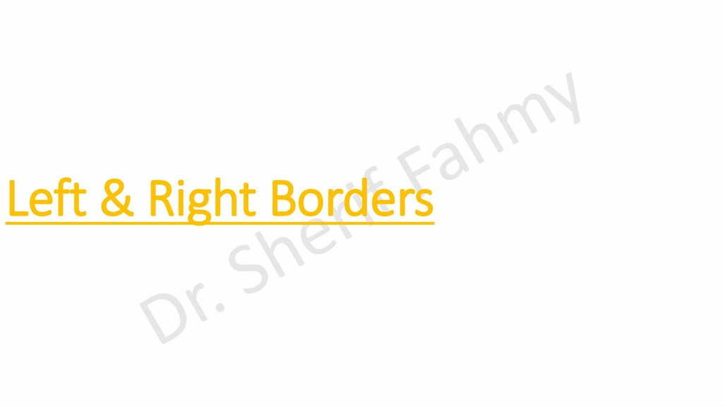 Left & Right Borders