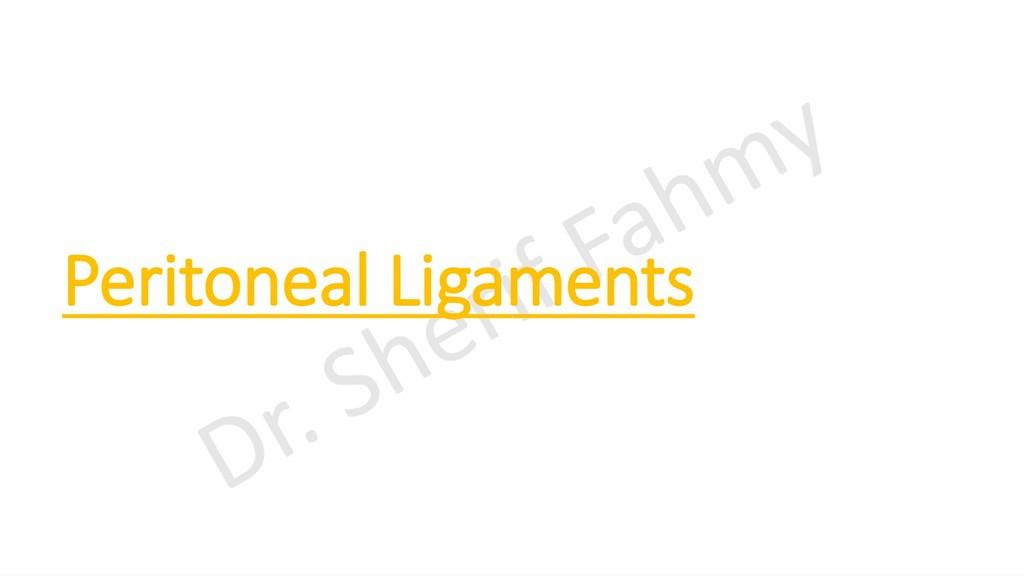 Peritoneal Ligaments