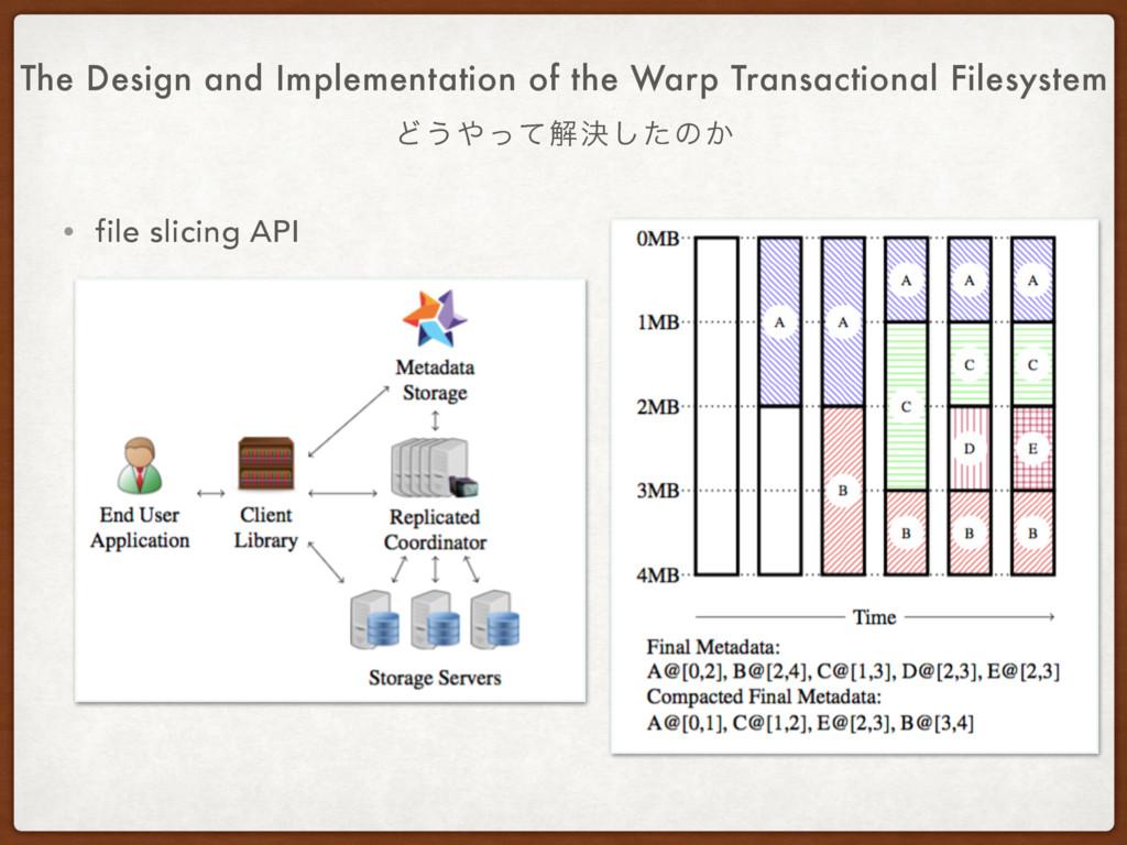 • file slicing API The Design and Implementatio...