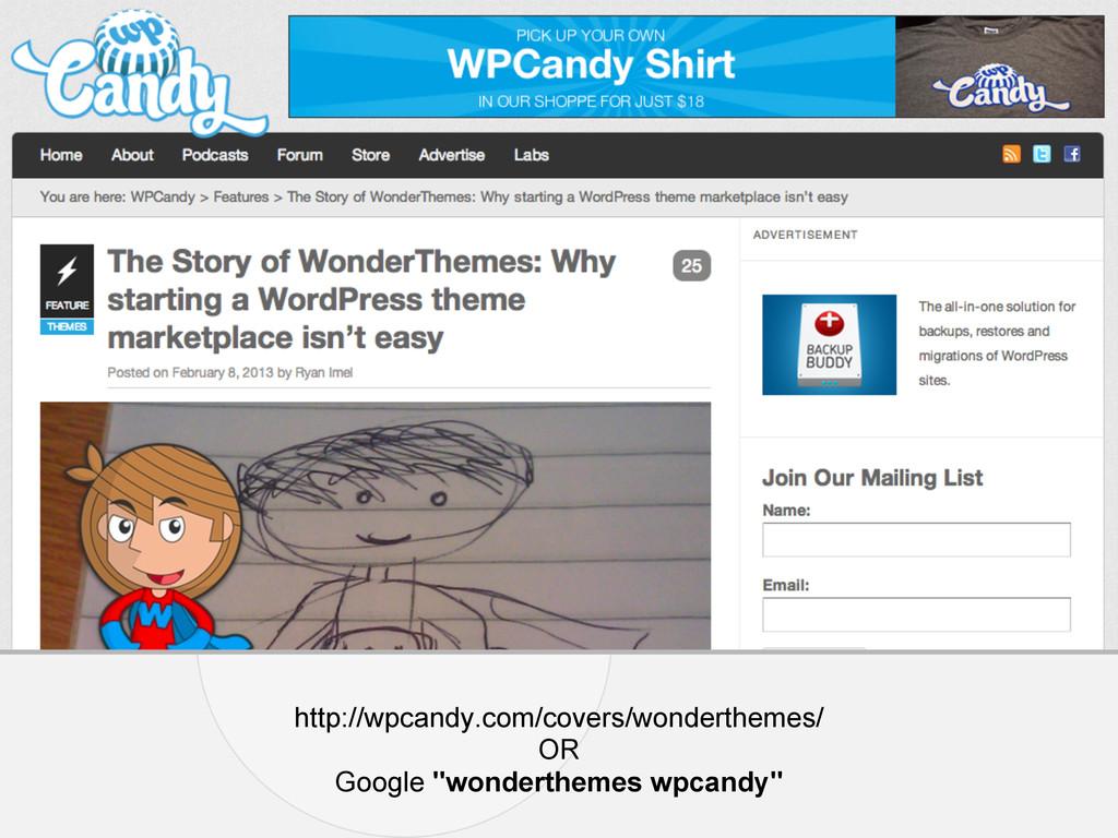 http://wpcandy.com/covers/wonderthemes/ OR Goog...