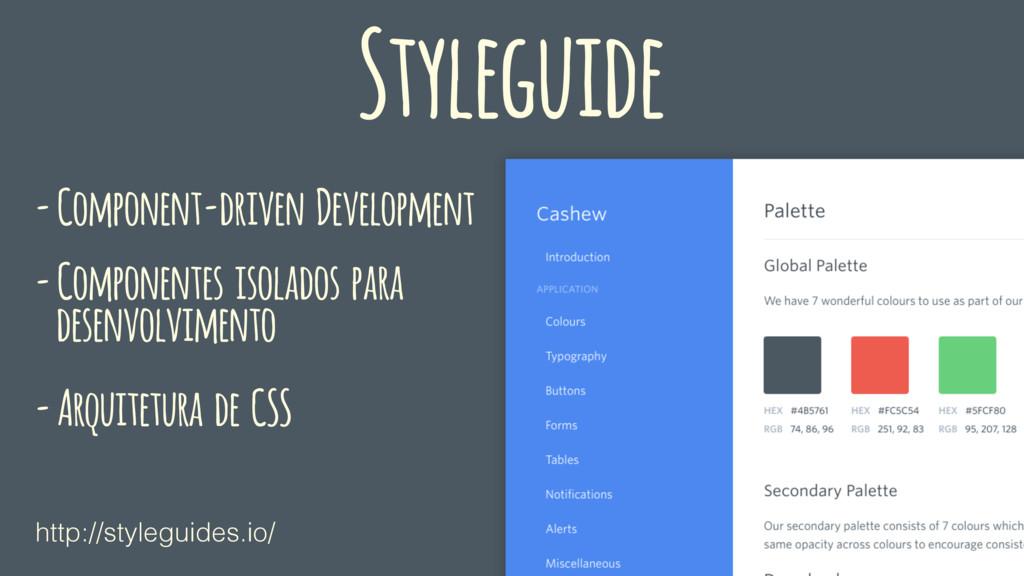 Styleguide - Component-driven Development - Com...