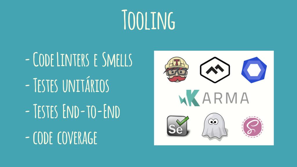 Tooling - Code Linters e Smells - Testes unitár...